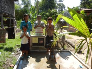 Water Well1262 Cambodia -- the family